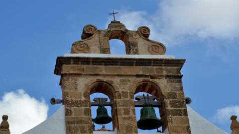 church bells cross and clouds time lapse 11149 Stock Video Footage