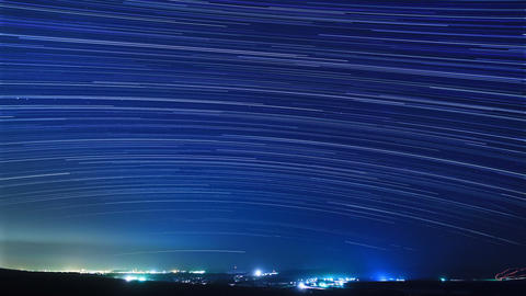 Stars above the city. Time Lapse Stock Video Footage