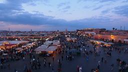 Jemaa el Fna Square in Marrakesh, Morocco Stock Video Footage