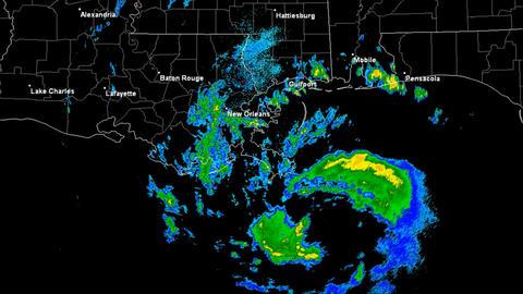 Hurricane Isaac Landfall Time Lapse Stock Video Footage