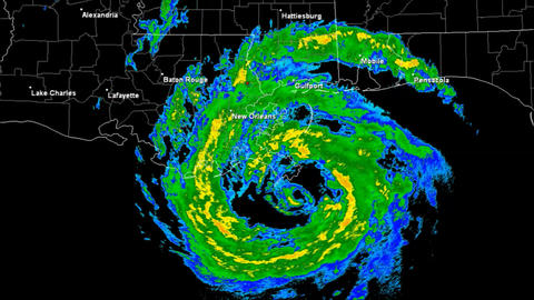Hurricane Isaac Landfall Time Lapse Stock Video Footage
