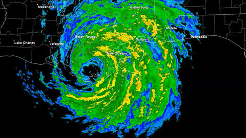 Hurricane Isaac Landfall Time Lapse Animation