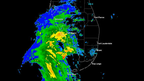 Hurricane Wilma Landfall Time Lapse Stock Video Footage