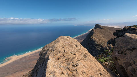 4k UHD time lapse clouds top Pico de la Zarza 1116 Stock Video Footage