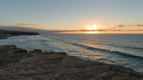 4k UHD time lapse sunset la pared beach pan 11168 Footage