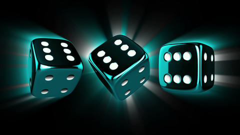 Casino Dices Spinning with Alpha Stock Video Footage