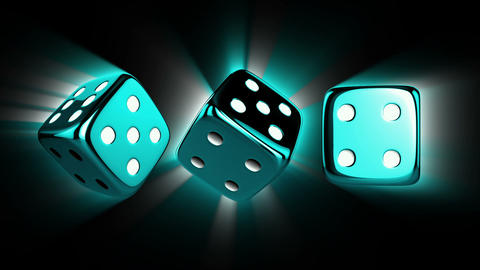 Casino Dices Spinning with Alpha Animation