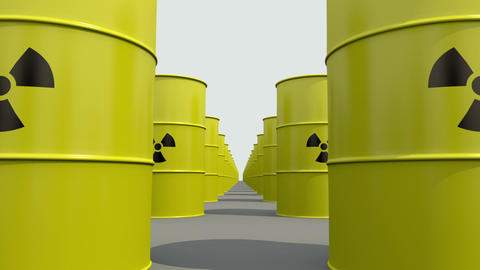 Toxic waste drums Stock Video Footage