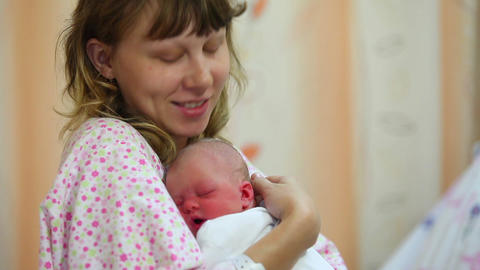 Baby and mom Stock Video Footage