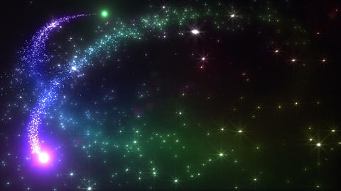 Light streaks and particles 2 D 1a 3 HD Stock Video Footage