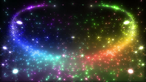 Light streaks and particles 2 D 2a 3 HD Stock Video Footage