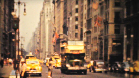 Downtown New York On Fifth Avenue 1940 Vintage 8mm stock footage
