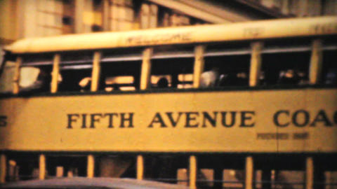Downtown New York On Fifth Avenue 1940 Vintage 8mm Stock Video Footage