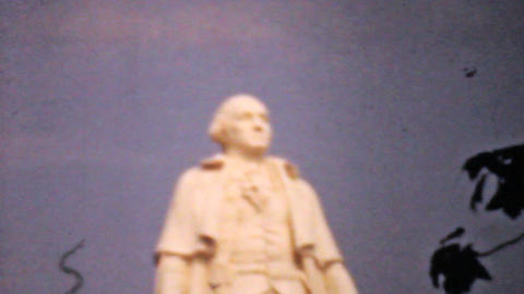 George Washington Statue 1940 Vintage 8mm film Stock Video Footage