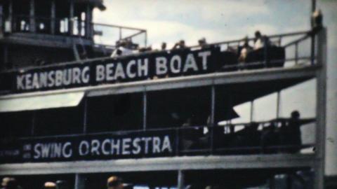 New York Harbor Tour Boat 1940 Vintage 8mm film Footage