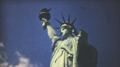Statue Of Liberty New York Skyline 1940 Vintage 8m Footage