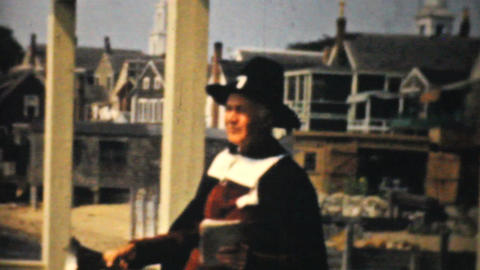 Town Cryer Jelly House In Provincetown -1940 8mm Stock Video Footage