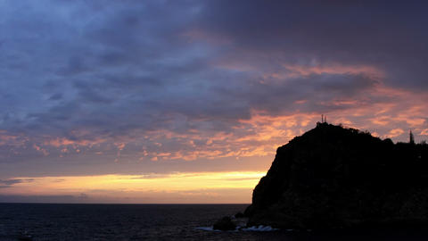 Timelapse sunset in the mountains. Balaklava, Crim Stock Video Footage