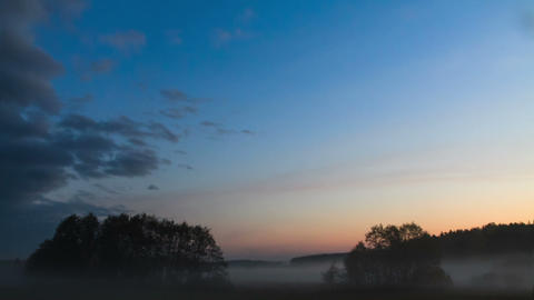 Morning mist clears. Time Lapse Stock Video Footage