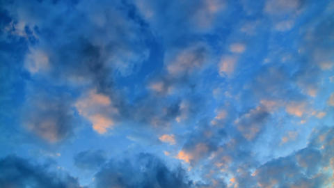Clouds at sunset. Time Lapse Footage