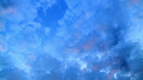 Clouds at sunset. Time Lapse Stock Video Footage