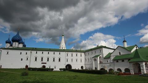 view on kremlin in Suzdal Russia - timelapse Footage
