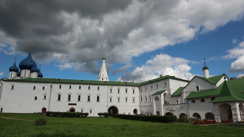 view on kremlin in Suzdal Russia - timelapse Stock Video Footage