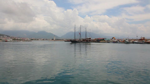 panorama of bay in Alanya Turkey Footage