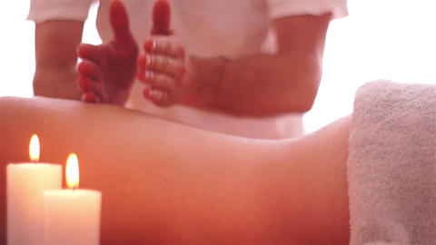 Deep Muscle Massage stock footage
