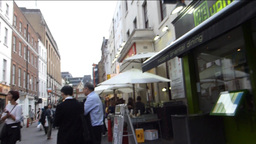 A Crowded Street In London Chinatown With Sound (L stock footage