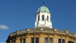 Dome roof of Sheldonian Theatre, Oxford, UK, Engla Stock Video Footage
