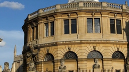 Dome Roof Of Sheldonian Theatre, Oxford, UK, Engla stock footage