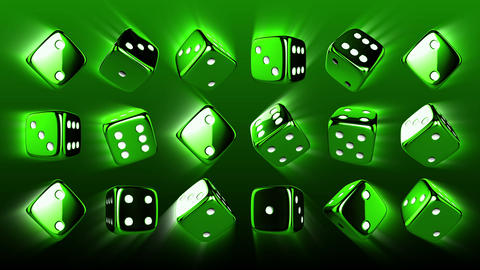 Casino Dices Background Stock Video Footage