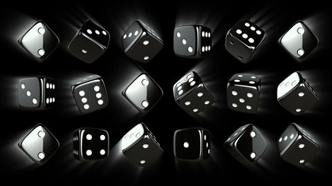 Casino Dices Background with Alpha Stock Video Footage