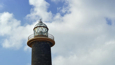 lighthouse and clouds time lapse 11174 Stock Video Footage
