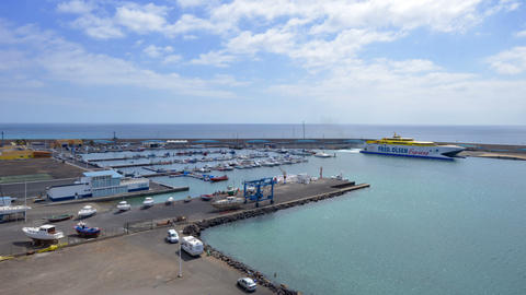 morro jable habour marina time lapse 11182 Footage