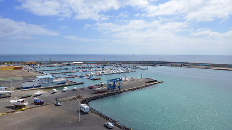 morro jable habour marina time lapse 11182 Stock Video Footage