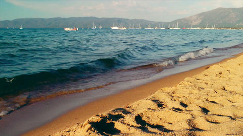 Lake Tahoe Shore Stock Video Footage