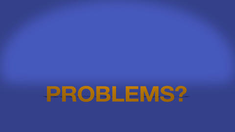 Problems we can help Stock Video Footage