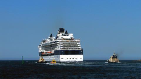 Cruise ship Millenium 5 Stock Video Footage