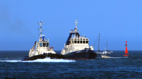 Tugboats of the Port Stock Video Footage