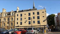 Old buildings of Oxford University street Footage