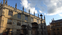Panning from Magdalen College to the street.(OXFOR Footage