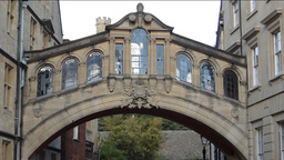 Hertford Bridge also known as Bridge of Sighs Oxfo Stock Video Footage