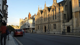 Street scene of Oxford University, UK Footage