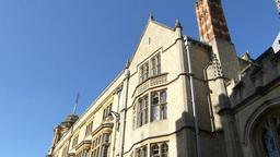 Street scene of Oxford University, UK Stock Video Footage
