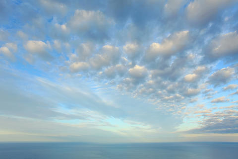 4K. Cloudy sky over the sea (Time Lapse). FULL HD Footage