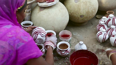 Indian pottery Stock Video Footage