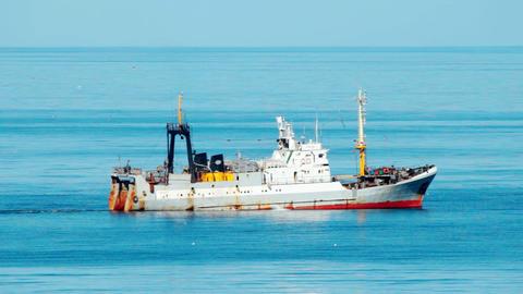 fishing ship at sea Footage