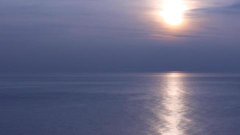 black sea dark blue sunset Stock Video Footage